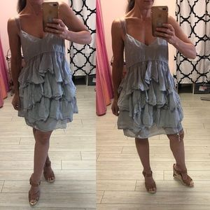 BCBGeneration Dresses - BCBG shabby chic layered dress with raw edge S